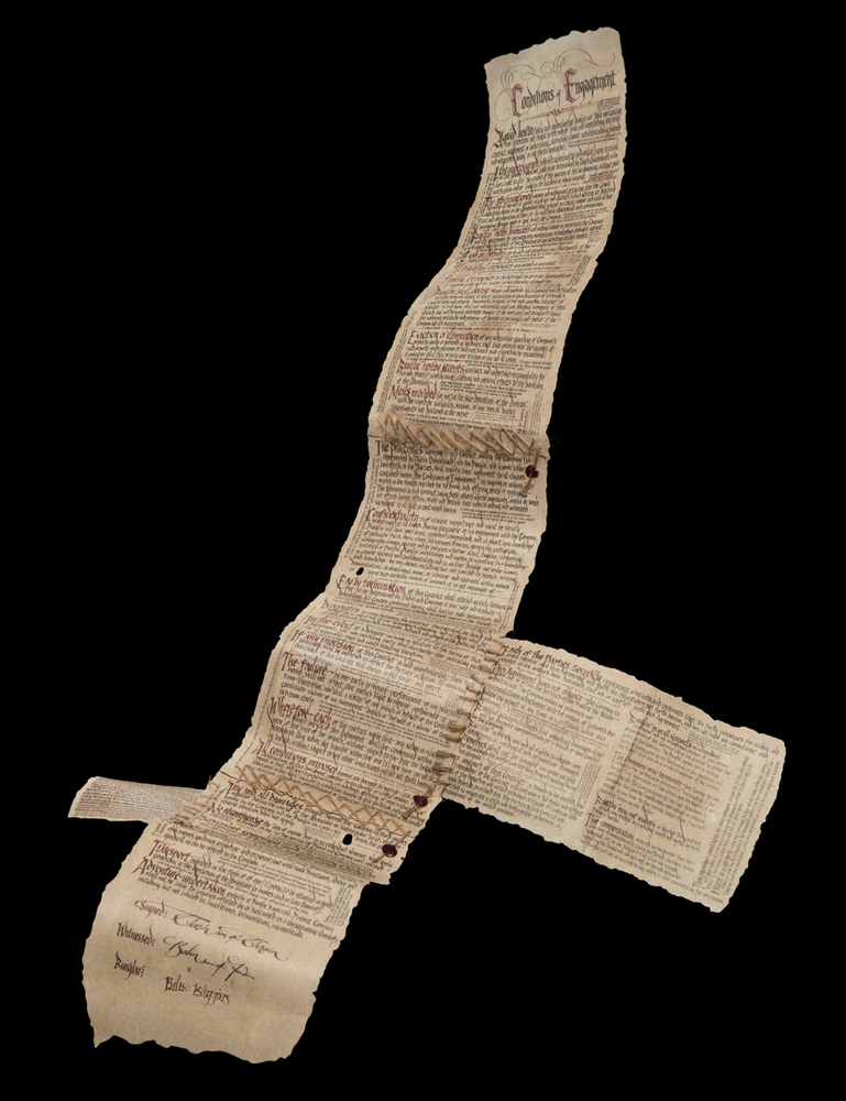 The Burglar Contract of Bilbo Baggins Miniature Prop Replica by Weta Collectibles