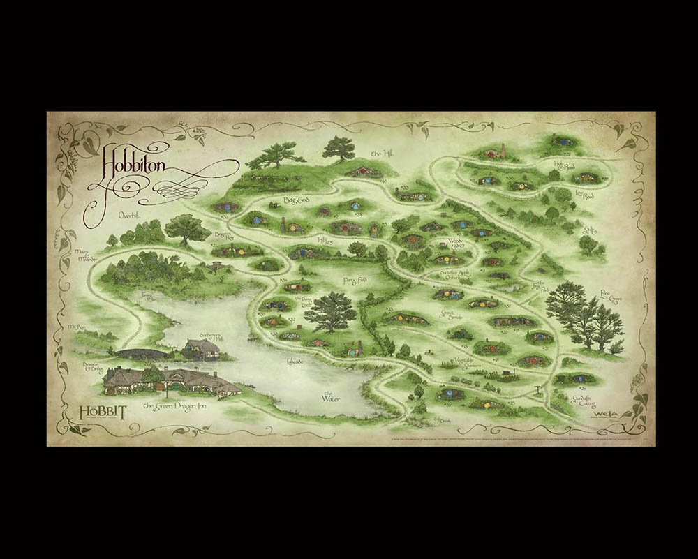 map of hobbiton